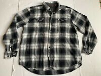 Woolrich Blue Black White Mens Flannel Buffalo Check XL