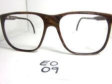 Elegant Optical Vintage 1970s Sun/Eyeglasses Squared Brown Marble (EO-09)