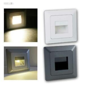 LED Wand-Einbaustrahler, 230V Serie MILOS Leuchte / Lampe für UP-Schalter-Dose