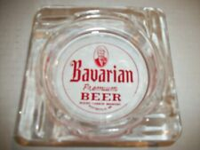 """Bavarian Premium Beer 4"""" Glass Ashtray From Mount Carbon Brewery Pottsville Pa."""