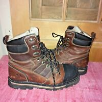 DAKOTA boots 13D, steel toe, leather/rubber, T-MAX, insulated