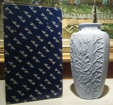 """Fitz & Floyd Essentials The Botanical Collection Vase Gorgeous Blue 8-1/4"""" Tall"""