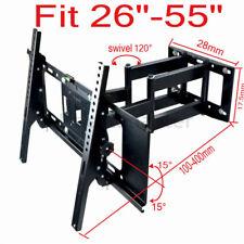 "TV Folding Ceiling Wall Mount Bracket Tilt Swivel Flip Down 26-55"" Loft Roof"
