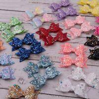 Sparkle Glitter Bow Girls Hair Clip Kids Glitter Hairband Hairpin New Beauty