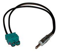 Câble adaptateur d'antenne auto autoradio double FAKRA-DIN pour auto voiture