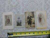 Unusual Art 4 Portraits Antique Photographs Photos Women cabinet cards fashion