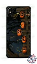Halloween Five Pumpkins Sitting on the Gate Phone Case Cover for iPhone Samsung