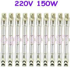 10 HALOGEN LIGHT BULB 220-240V 150W 150 WATT J TYPE T3 78mm (R7s) Halogen Bulbs