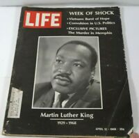"VINTAGE LIFE MAGAZINE APRIL 12,1968, ""WEEK OF SHOCK"" M.L.K., 'NAM ARICLES & ADS"