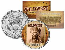 GERONIMO * Wild West Series * Indian JFK Kennedy Half Dollar U.S. Coin