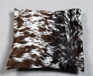 NEW COW HIDE LEATHER​ CUSHION COVER RUG COW SKIN Cushion Pillow Covers C-4380