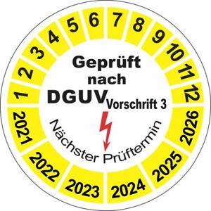 Geprüft nach DGUV V3 Vorschrift3 Nächster Prüftermin 20mm gelb weiß 13221