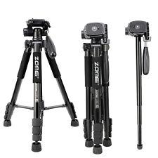 Zomei Q222 Pro Black Heavy Duty Camera Tripod Monopod with Pan Head for Dslr