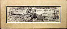 DUNOYER de SEGONZAC André (1884-1974) Beau Dessin Original Encre Paysage Signé
