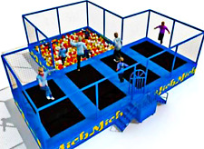 1,150 sqft Commercial Trampoline Park Dodgeball Climb Gym Inflatable We Finance