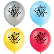 "8 BATMAN THEME Boys Birthday Party Decorations 12"" Latex BALLOONS"