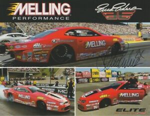"""2019 Erica Enders signed Melling """"1st Version"""" Chevy Camaro PS NHRA Hero Card"""