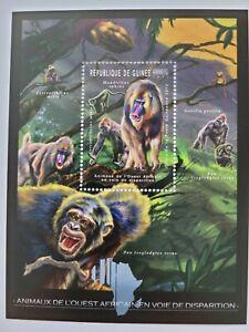 Guinea 2012 / Animals of West Africa - Monkey-Mandrill / 1v minisheet MNH