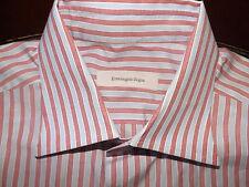 ERMENEGILDO ZEGNA Mens French Cuffs Striped Dress Shirt Size 16.5 - 42