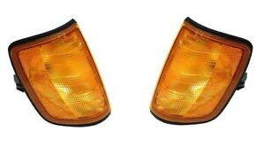 Front Left Right Turn Signal Assies Headlight Pair Set For Mercedes W124 Marelli