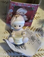 Precious Moments Baby's First Christmas 1991 Little drummer boy ornament Enesco