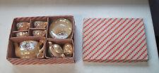 Child's Children Lusterware Tea Set in Original Box Japan Circa 1930s  NM