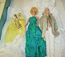 1960's Mattel Blonde Midge Barbie With Clothing Collection + Ken + Case