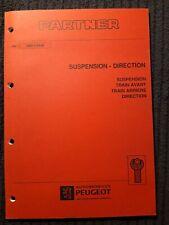 (311MB) Manuel d'atelier PEUGEOT PARTNER - Suspension & Direction.