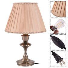 Home Antique Brass LED Bulb Table Lamp Lighting Desk Bedroom Study Living Room