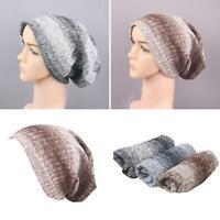 LN_ EG_ Women Men Winter Warm Soft Knitted Baggy Oversize Beanie Cap Hat Gift