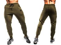 Mens Gym Slim Fit Trousers Tracksuit Bottoms Skinny Joggers Sweat Track Pants K