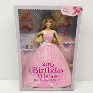 Mattel 2015 Birthday Wishes  Barbie Collector Pink Label
