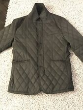 Quilted Jacket Green Camo Hunting Barbour Style
