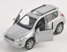 BLITZ VERSAND Toyota RAV 4 / RAV4 silber / silver Welly Modell Auto 1:34 NEU OVP