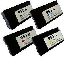 4 astillados Cartuchos De Tinta Para Hp 950xl 951xl Officejet Pro 8100e 8600 8600 Plus