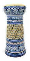 Deruta Vase Blumenvase Keramik blau gelb weiß Höhe ca. 23 cm