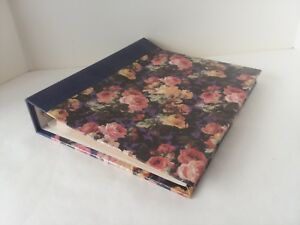 "Purple Floral Flower Bouquet Photo Album Paperboard 9 3/4"" x 11 1/4"""