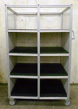 8020 Industrial Material Handling Cart 8 Shelves 34 Depth 19 W 13 34 H