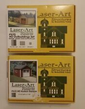 Laser-Art Structures HO - Hudson Garage #632 and Outbuldings #635 FREE SHIPPING!