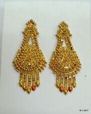 Traditional design 20kt gold earrings handmade jewelry rajasthan india