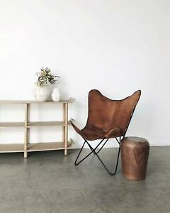 Handmade Classic Vintage Leather Butterfly Chair Living Room Relax Arm Chair BKF