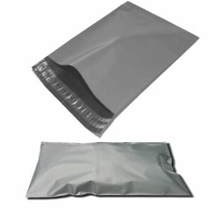 """12 x 16"""" Grey Mailing Bags Self Seal Strong Poly Postage Past Post Pack of 100"""