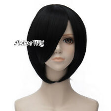 "Basic Cosplay Black/Wine Red/Blue/Light Blonde 12"" Heat Resistant Women Wig"