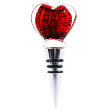 Glass HEART SHAPED BOTTLE STOPPER love wine champagne sealer plug party bar NEW