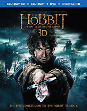 The Hobbit: The Battle of the Five Armies (Blu-ray/DVD, 3D, 2015, digital hd.