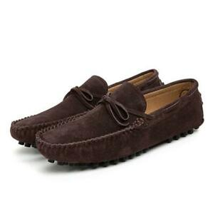 Men's Casual Suede Leather Slip On Moccasin-gommino Driving Spring Soild Shoes