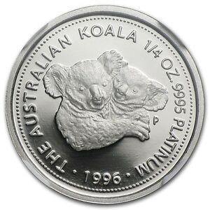 RARE ~ 1996 P ~ $25 PLATINUM  PROOF ~ KOALA ~ 1/4~OUNCE ~ NGC PF~69 UC ~ $928.88