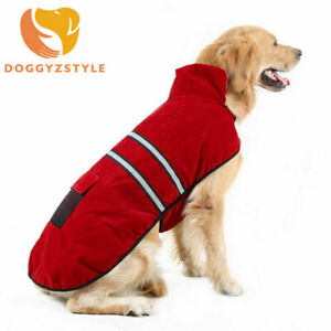 Red and Black Lined Medium Sized Dog Coat With Faux Ultrasuede Collar