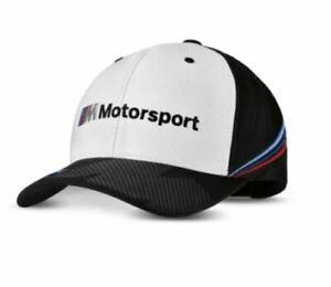 Genuine BMW M Motorsport Collector Cap - Black & White 80162461127