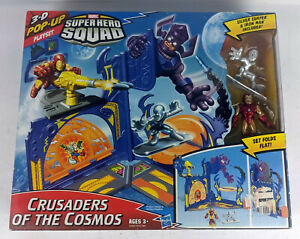 Marvel Super Hero Squad Crusaders of the Cosmos Playset Silver Surfer Iron Man